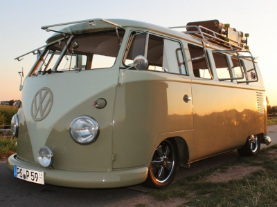 1959 VW T1 Split Bus Mango