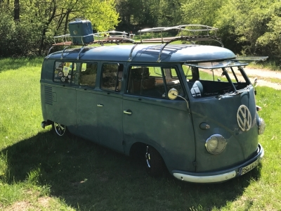1957 VW T1 Bus in Dove blue