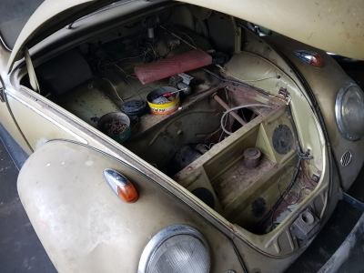 1956 VW Käfer Ovali in Diamant Grün